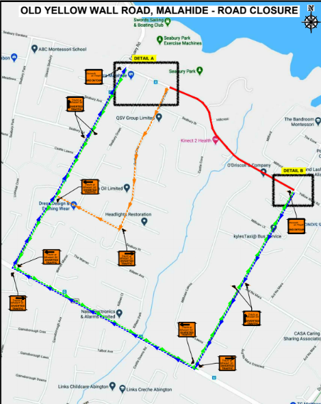 Diversion details March 2020 - Old Yellow Walls Road