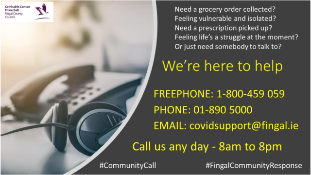 Fingal Covid-19 7days per week community response