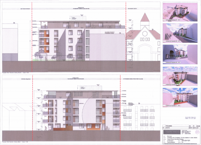 00659482 Westbury Club The Green Malahide - planning application document - Rear and Side - West Elevation