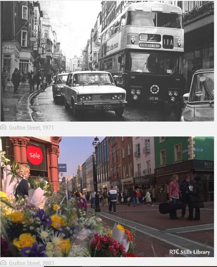 Grafon Street 1971 - 2003 - pedestrianised in 1982